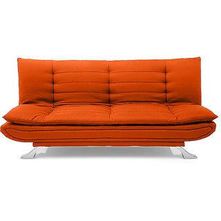 Iris Sofa Cum Bed (Orange)