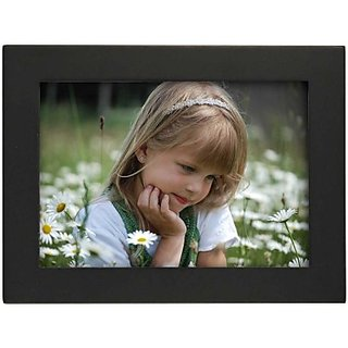 Snapgalaxy Wood Photo Frame Black Photo Size - 5 x 7 inch, 1 Photos