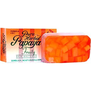 Pure Papaya Herbal Fruity Soap Skin Whitening Soap (135gm)