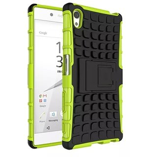 quality design c8eea eed23 Heartly Flip Kick Stand Spider Hard Dual Rugged Armor Hybrid Bumper Back  Case Cover For Sony Xperia Z5 - Great Green