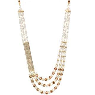 PORWAL Golden Silver String Polki Pearl Design Moti Mala
