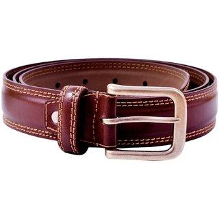 Aer Leather Boys, Men Formal Brown Genuine Leather Belt (Brown)