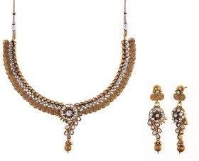 Zircon Stone Based Designer Antique Necklace Sets(TD-N-40)