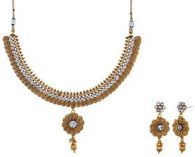 Zircon Stone Based Designer Antique Necklace Sets(TD-N-41)