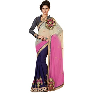 Manvaa Multicolor Pure Georgette Party wear saree