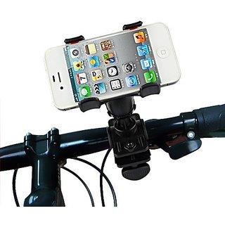 Vheelocityin Bike Bicycle Motorcycle Mobile Cell Phone Holder Mount Bracket Double Clamp