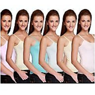 Girls camisole pack of 12 pc asstd color width 28 inch