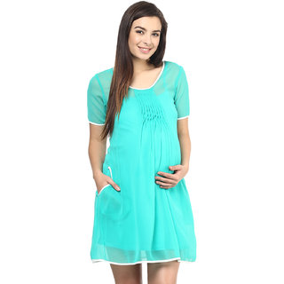 Mine4Nine Green Georgette Casual Dress