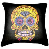 Set Of Three Skull 3  Cushion Cover Throw Pillow
