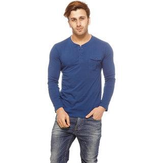 daf0e240a Gritstones Men's Blue Round Neck T-Shirt