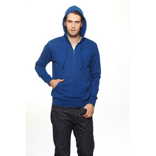 Gritstones Navy Blue Collar Sweatshirts For Men