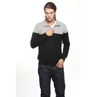 Gritstones Maroon Collar Sweatshirts For Men