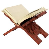 WOODEN HAND CARVED HOLY BOOK STAND,FOR QURAN,BIBLE,GITA,VED ,GURU GRANTH SAHIB. SIZE ( 12 Inch )