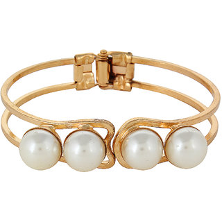 Fayon Contemporary Statement Pearl Bangle Bracelet