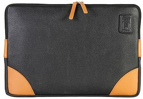Dhama 15 Classic Black  Colored Conference Leatherette Laptop Sleeve dh2016ls150
