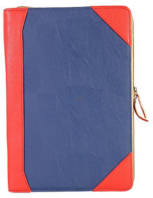 Dhama 15 Stylish And Chic Red  Blue Leatherette Laptop Sleeve dh2016ls160