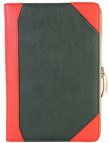 Dhama 15 Stylish And Chic Red  Green Leatherette Laptop Sleeve dh2016ls163