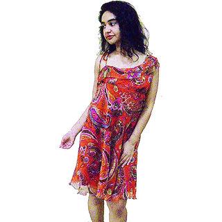 18090fa4c171 Buy O Rhythm- western one piece knee length dress Online - Get 66% Off