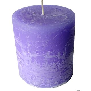Pure Indian Lavender Scented Pillar Candle (30-35.Hr) Burn Time Pc00555