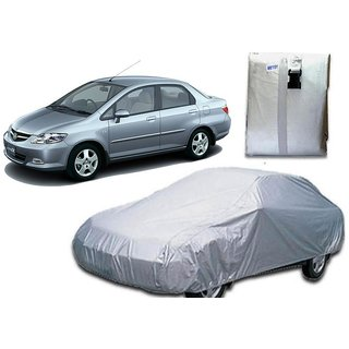Autoplus Car Cover For Honda City ZX Car Body Cover Silver Color.