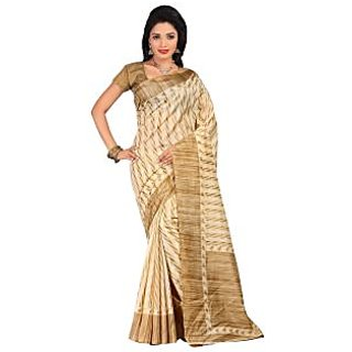 Lovely Look Beige Printed Saree LLKGPS8004B