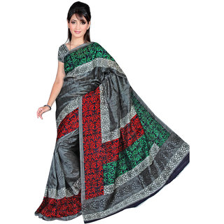 Lovely Look Grey Printed Saree LLKGPS5094