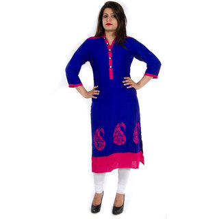 Veera Designers Formal Embroidered Womens Kurti (VDODERNART-B)
