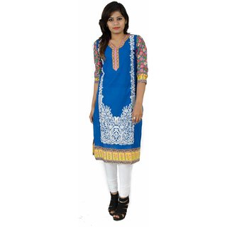 Veera Designers Embroidered Womens Kurti (VD-Embroidered Straight-P)