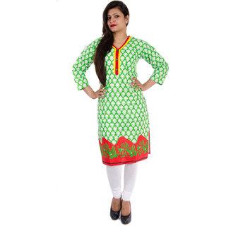 Veera Designers Womens Kurti (VD-SC-FLOWERDD-G)