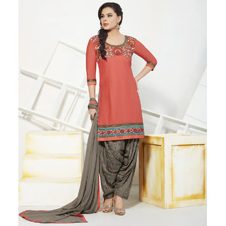 Shaily Partywear Cotton Embroidered Patiala Suit