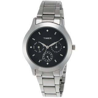 Timex Automatic Black Round Women Watch TI000Q80400