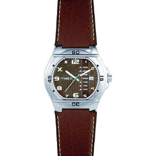 Timex Automatic Brown Round Men Watch EL04