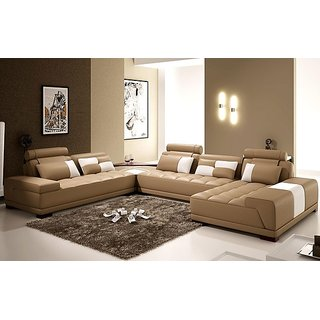 Buy big size u shape sofa 9 seater with pillo online get for 9 seater sofa set