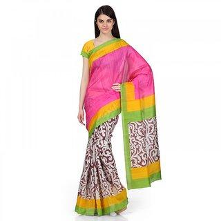 Rangoli  Zarin Bhagalpuri Silk MultiColor Printed Saree ( GZ-1079 )