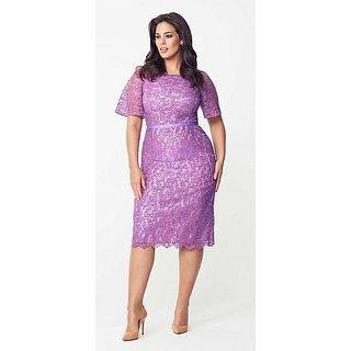 Designer purple Colour Short Gown