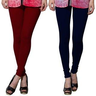 Both11 Multi Color Cotton Lycra Casual Legging (Set Of 2) (B11-DB-14-17)