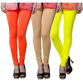 Both11 Multi Color Cotton Lycra Casual Legging (Set Of 3) (B11-TP-9-10-19)