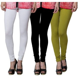Both11 Multi Color Cotton Lycra Casual Legging (Set Of 3) (B11-TP-1-2-16)