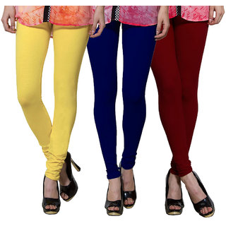 Both11 Multi Color Cotton Lycra Casual Legging (Set Of 3) (B11-TP-3-4-14)