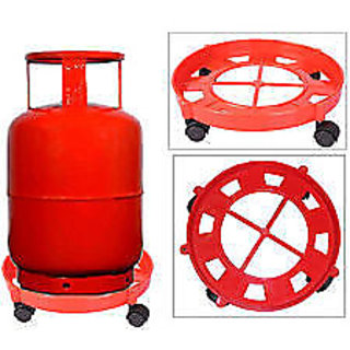 Lpg Gas Cylinder Trolly (Red Colour)