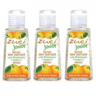 Zuci Junior Hand Sanitizer - Orange (30ml) x 3 Quantities