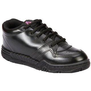 Rex Gola School Shoes with Laces (Black