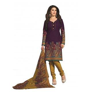 Aashvi Creation Printed Cotton Multi Color Unstitched Dress Materials (SP-1123)