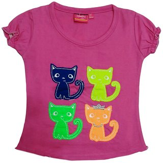 Tomato 34 Pink Casual T-Shirt For GirlS
