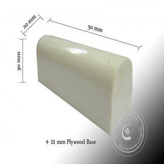 Silicone Rubber Pad - Printing Pad - 50 mm X 20 mm - with Plywood Base
