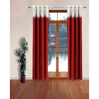 Homefab India Set of 2 Designer Rust Window Curtains
