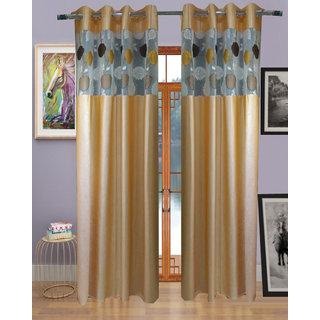 Buy Homefab India Set Of 2 Russel Net Beige Window Curtains Online