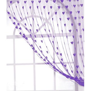 Homefab India Set of 2 Purple Heart Door Curtains