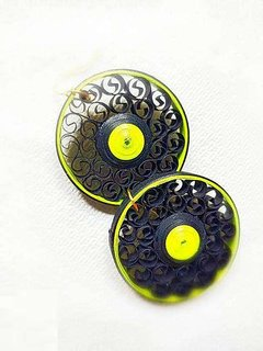 Handmade Earrings With Pastel Quilled Elements