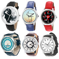 Jack Klein Combo Of Synthetic Leather Multicolor Analog Round Wrist Watch For Men